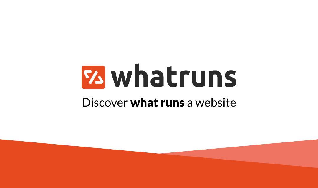 WhatRuns คืออะไร